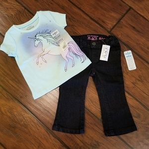 The Children's Place/Oshkosh unicorn outfit